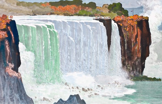 cover_1980_馬白水 Ma Paisui 尼加拉瀑布(全景) Niagara Falls 69×135cm