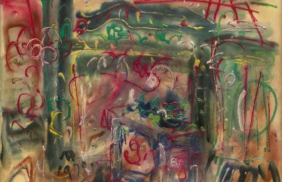 庙 1970 压克力画布 45x60cm